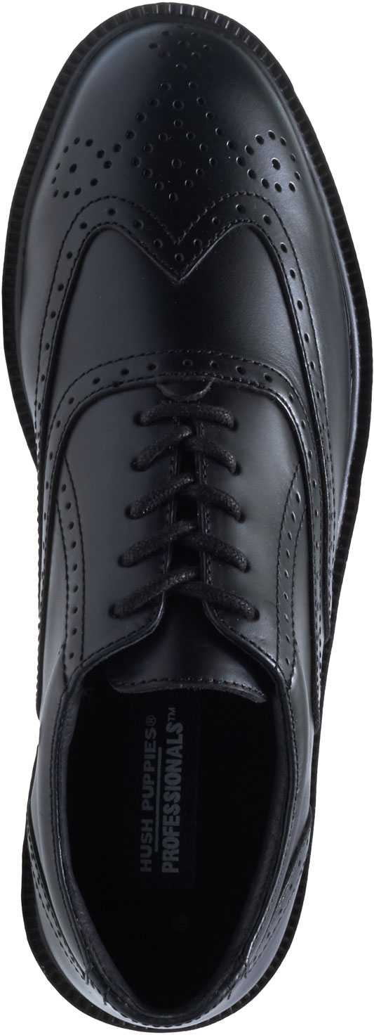 Hush Puppies 05040 Professionals, Men's, Black, Steel Toe, EH, Wing Tip Oxford