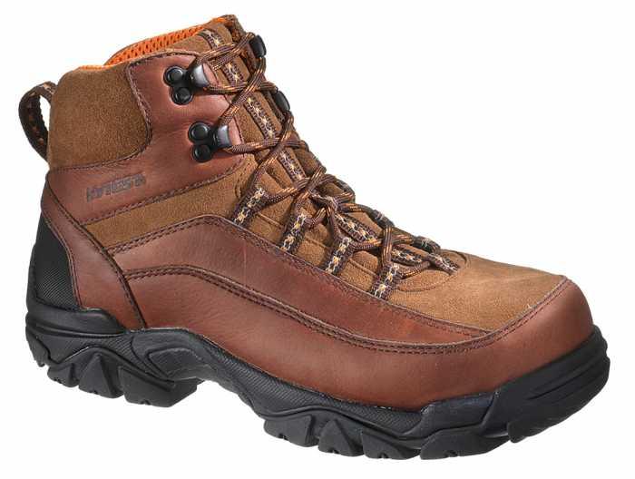 HYTEST 12009 Brown Electrical Hazard, Steel Toe, Waterproof Men's Hiker