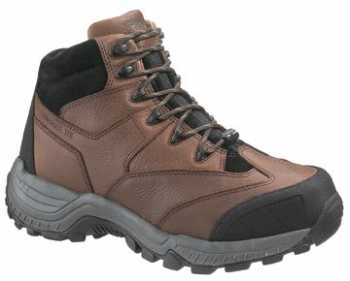 HYTEST 12202 Brown Electrical Hazard, Composite Toe, Internal Met-Guard, Non-Metallic Mid-Cut Unisex Hiker
