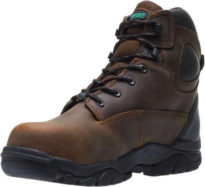 HYTEST 12481 Brown Electrical Hazard, Composite Toe, Puncture Resistant, Non-Metallic Waterproof Unisex 6 Inch Hiker