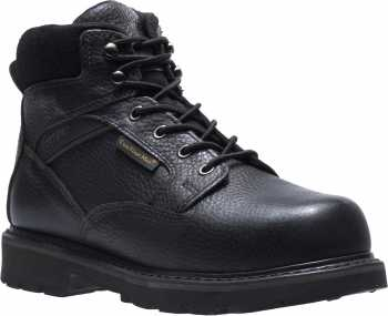 HyTest 13270 Men's, Black, Steel Toe, EH, Mt, 6 Inch, Side Zip Boot
