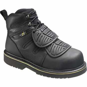 HYTEST 13550 Men's, Black, Steel Toe, EH, External Met, 6 Inch Boot