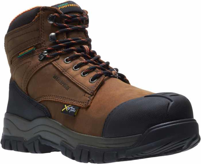 HYTEST 13562 Men's Brown, Comp Toe, EH, Met Guard, PR, Waterproof Hiker