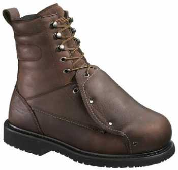 HyTest 14291 Men's, Brown, Steel Toe, EH, External Met, 8 Inch Boot