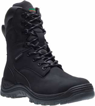 HYTEST 14780 Knox, Unisex, Black, Steel Toe, EH, Waterproof, 8 Inch Boot