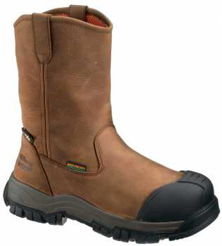 HYTEST FootRests 13561 Brown Comp Toe, EH, Internal Met Guard, Waterproof, PR, Wellington