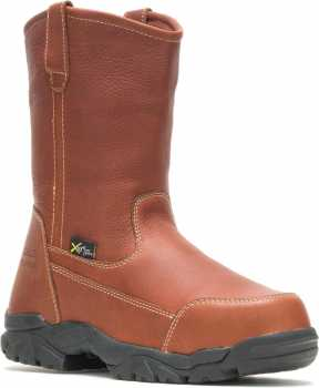 HYTEST 15261 Unisex Brown XRD Internal Metatarsal Guard, Composite Toe, Electrical Hazard Wellington