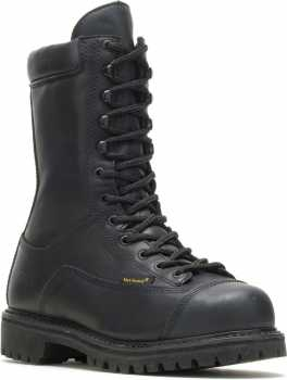 HYTEST 15340 Black EH, Steel Toe, Internal Met Guard, Waterproof/Insulated, Puncture Resistant 10 Inch Miner's Boot