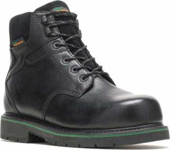 HYTEST FootRests 23180 Black Electrical Hazard, Composite Toe, Waterproof, Men's 6 Inch Work Boot