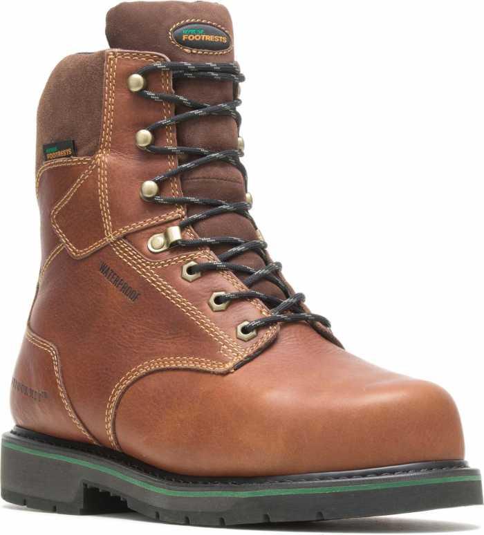 HYTEST FootRests 24231 Brown Electrical Hazard, Composite Toe, Internal Met Guard, Waterproof Men's 8 Inch Work Boot