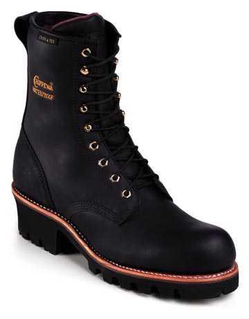 Chippewa CH73050 Black Steel Toe, Electrical Hazard, Insulated, Waterproof Men's 8 Inch Logger
