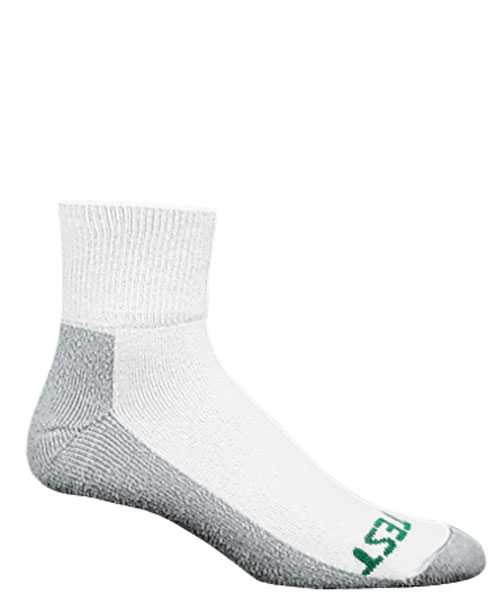 HYTEST AS154WHT-6PK Men's, Performance, White/Gray, Ankle Sock