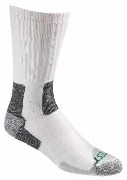 HYTEST AS500ST-2PK Men's White/Gray, Crew Sock
