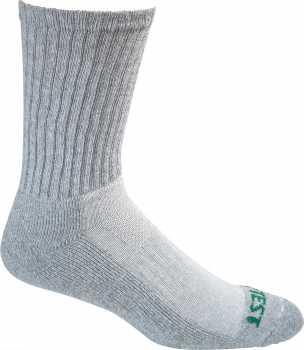 HyTest AS897GRY-12PK Men's, Grey, Cotton, Crew Sock