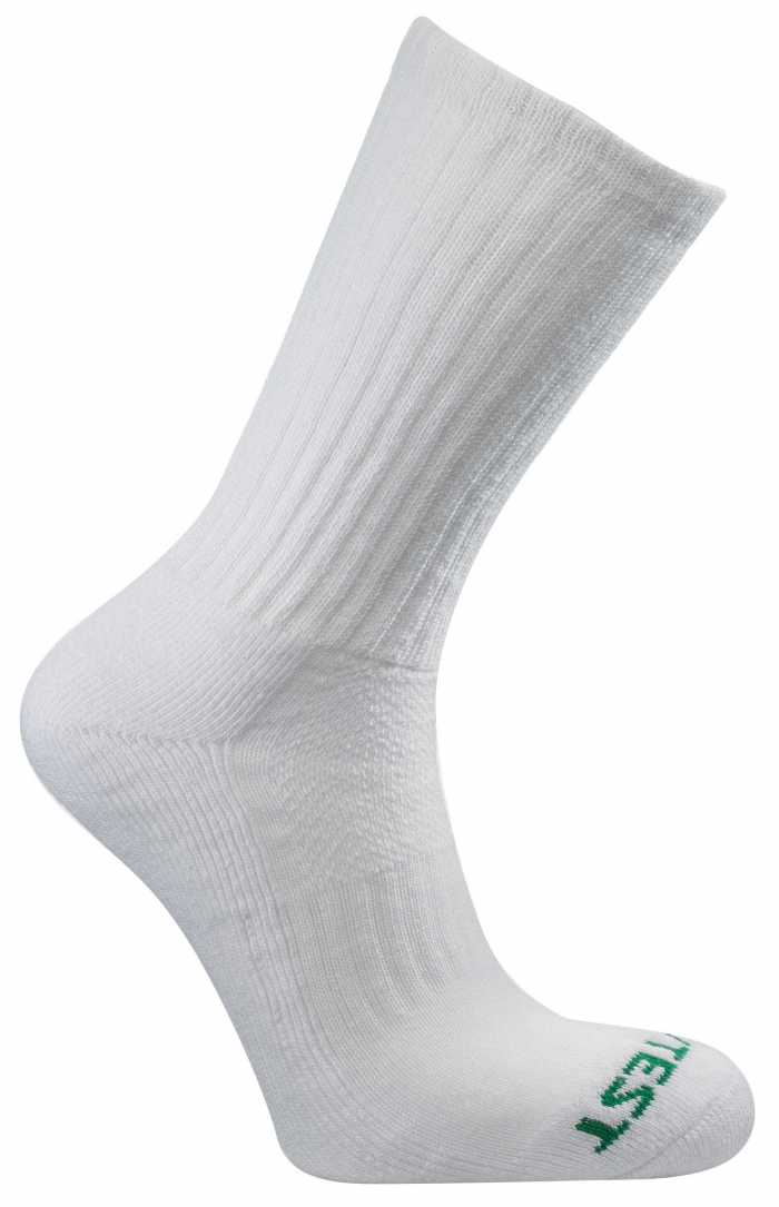 HyTest AS897WHT-12PK Men's, White, Cotton Crew Sock