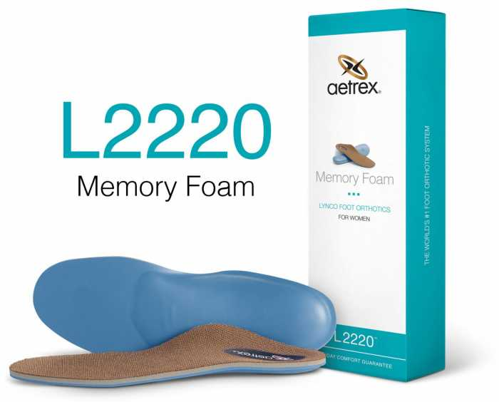 Aetrex ATL2220F Lynco, Women's, Flat To Low Arch, Orthotic