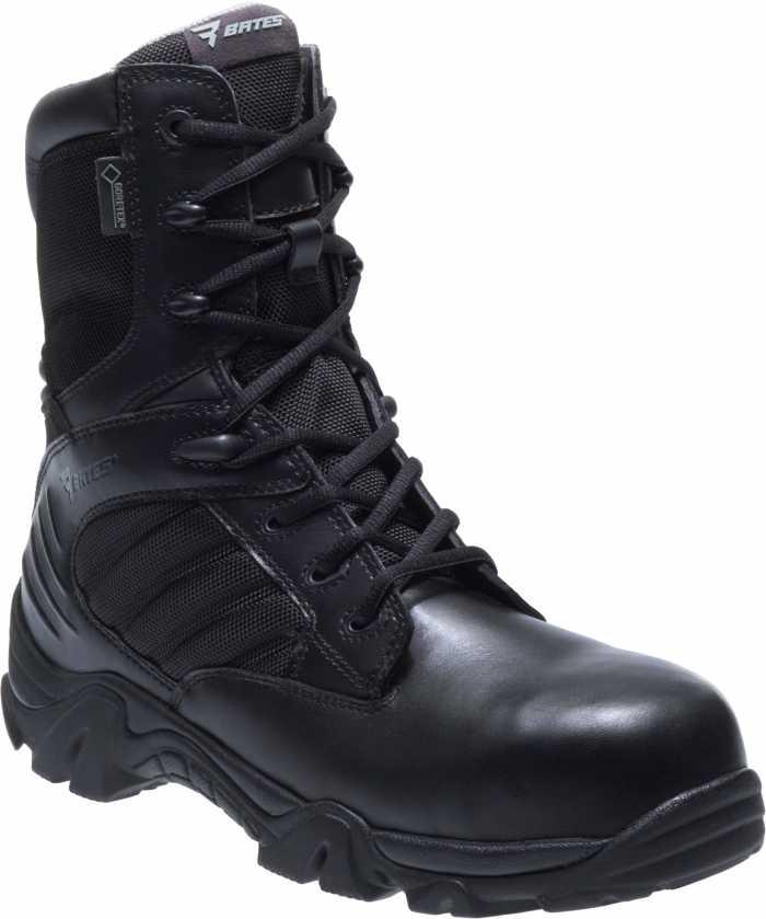 Bates BA2272 Black Composite Toe, Electrical Hazard, Side Zip, Waterproof, Men's Gore-Tex, 8 Inch Boot