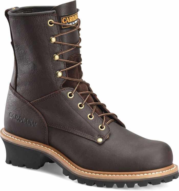 Carolina CA1821 Brown Steel Toe, Electrical Hazard, Men's 8 Inch Logger