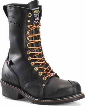 Carolina CA1905 Black USA Made, Steel Toe, Electrical Hazard, Men's 10 Inch Linesman Boot