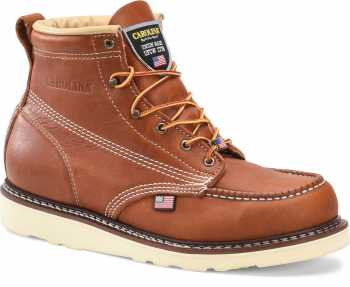 Carolina CA7503 Amp, Men's, Tan, Steel Toe, EH, Moc Toe, 6 Inch, Wedge Boot