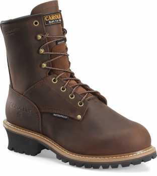 Carolina CA7821 ELM, Men's, Brown, Steel Toe, EH, Mt, WP/Insulated Logger