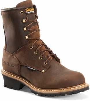 Carolina CA9821 Elm, Men's, Brown, Steel Toe, EH, WP, 8 Inch Logger