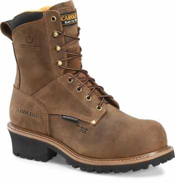 Carolina CA9852 Poplar, Men's, Brown, Comp Toe, EH, WP, 8 Inch Boot