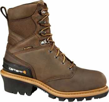 Carhartt CML8369 Men's, Brown, Comp Toe, EH, WP/Insulated, 8 Inch Logger