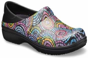 Crocs CR2053850C4 Women's, Neria Black/Flower, Soft Toe, Slip Resistant Clog