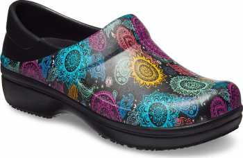 Crocs CRNERIA0I4 Pro II, Women's, Black/Floral, Soft Toe, Slip Resistant, Work Clog