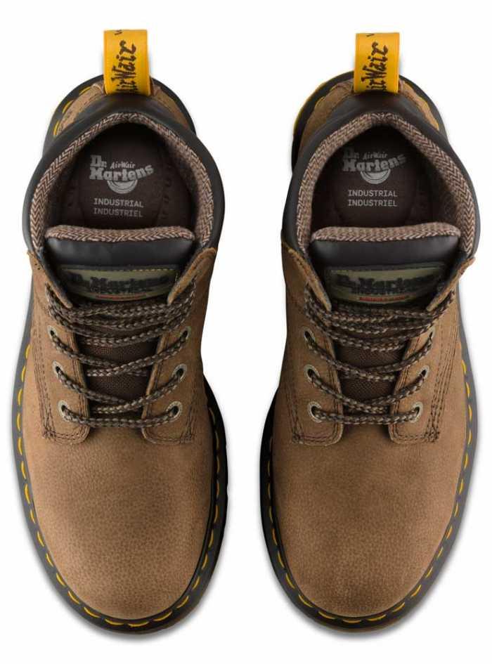 Dr. Martens DMR21725203 Hynine Unisex, Brown, Steel Toe, EH, 6 Inch Boot