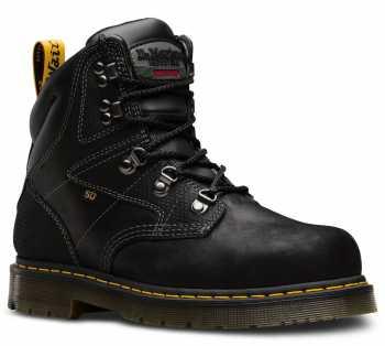 Dr. Martens DMR24611001 Earlstoke, Black, Men's, Steel Toe, SD, 6 Inch Boot