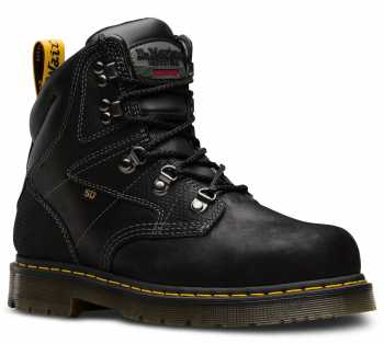 Dr. Martens DMR24611001 Earlstoke, Black, Men's, Steel Toe, SD, 6 Inch Boot