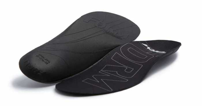Form Ultra-Thin Insole With Maximum Arch Support For Narrow And Shallow Fit Footwear
