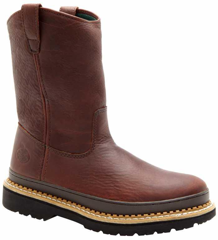 Georgia Boot GA4374 Men's, Brown, Steel Toe, EH, Pull On Boot