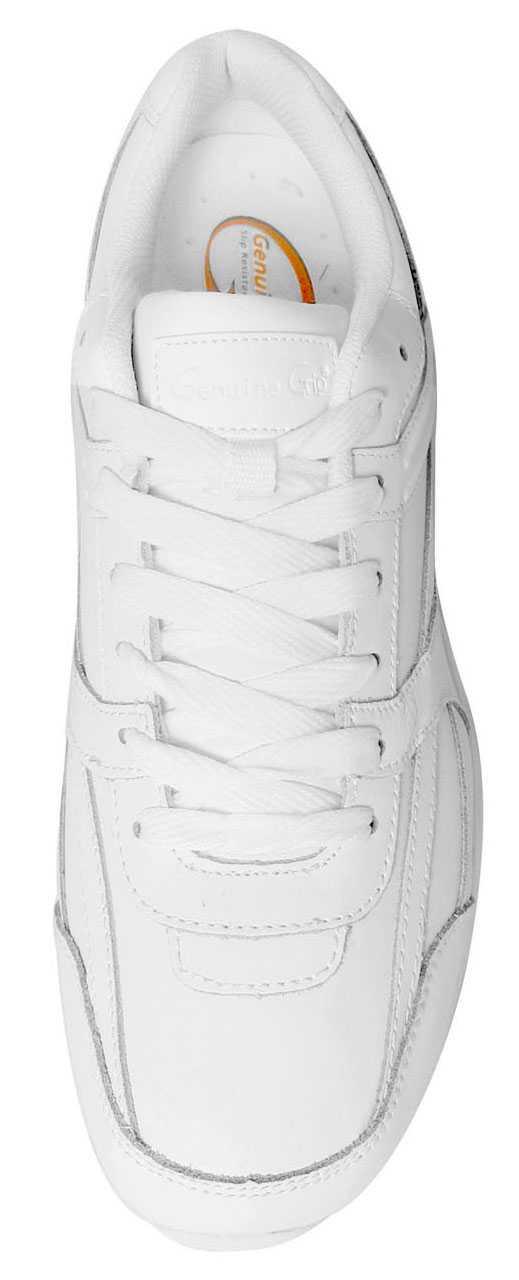 Genuine Grip GGM1015 Men's, White, Soft Toe, Slip Resistant, Athletic Oxford