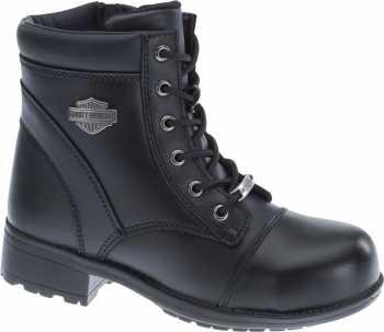 Harley Davidson HD83883 Raine, Women's, Black, Steel Toe, EH, Side Zip Boot