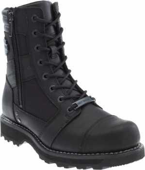 Harley Davidson HD93496 Boxbury, Men's, Black, Comp Toe, EH, 7 Inch, Zipper Boot