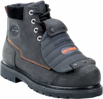 Harley Davidson 95055 Men's Black 7 Inch, Steel Toe, EH, External Met Guard Boot