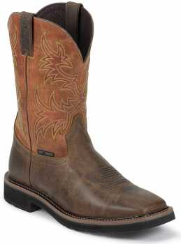 Justin JUWK4812 Switch, Men's, Brown, Comp Toe, EH, 11 Inch, Square Toe Boot