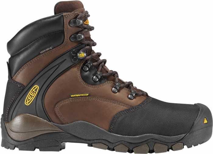 KEEN Utility KN1007965 Men's Louisville Slate/Black, Waterproof, Steel Toe, EH Boot