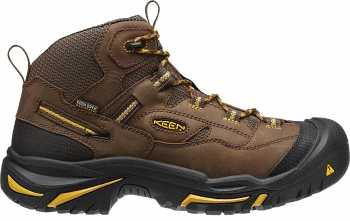 KEEN Utility KN1011242 Braddock Cascade Brown Steel Toe, EH, Waterproof, Men's Hiker