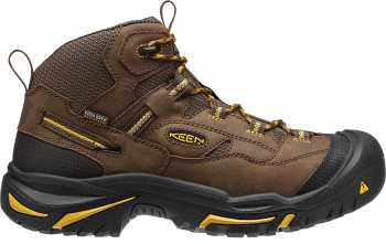 KEEN Utility KN1011242 Braddock Cascade Brown Steel Toe, EH, Waterproof, Men's Hiker