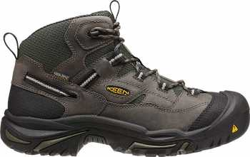 KEEN Utility KN1011243 Braddock Men's, Gargoyle/Forest Night, Steel Toe, EH, Waterproof Hiker