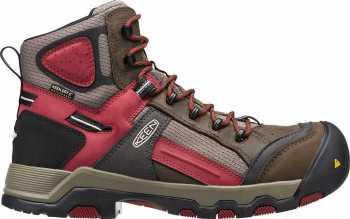 KEEN Utility KN1016157 Davenport Men's, Cascade Brown/Red Dahlia, Comp Toe, EH, Waterproof Hiker