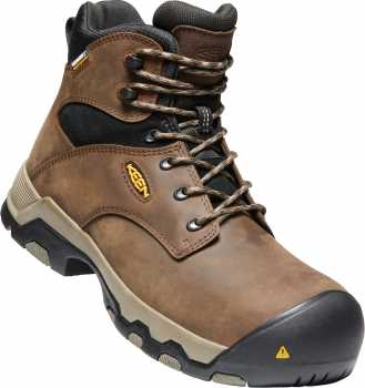 KEEN Utility KN1021342 Rockford, Men's, Cascade Brown/Black, Comp Toe, EH, WP, 6 Inch