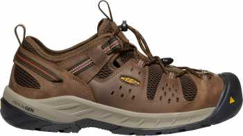 KEEN Utility KN1023215 Atlanta Cool II, Men's, Shitake/Rust, Steel Toe, EH, Low Hiker