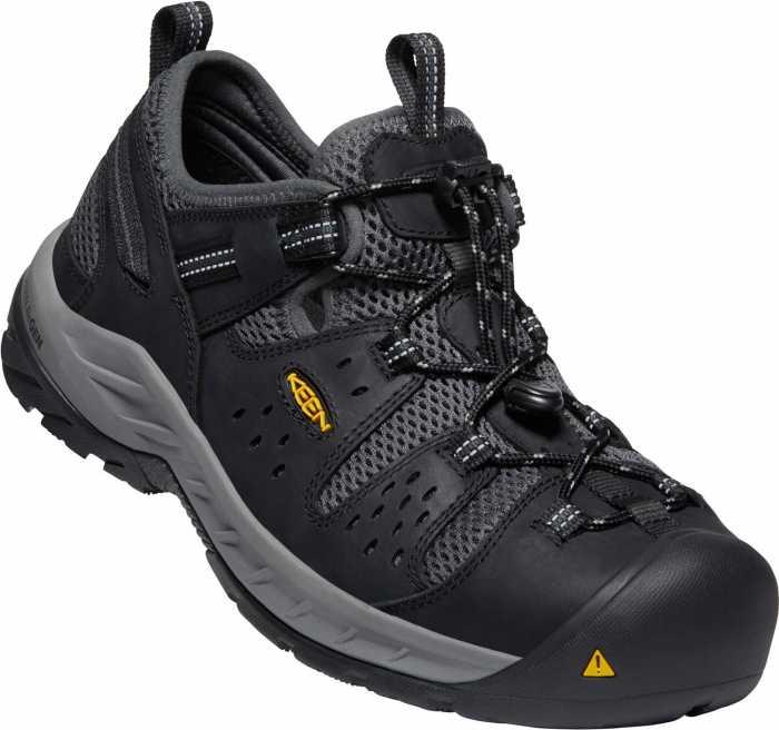KEEN Utility KN1023216 Atlanta Cool II, Men's, Black/Dark Shadow, Steel Toe, EH, Low Hiker
