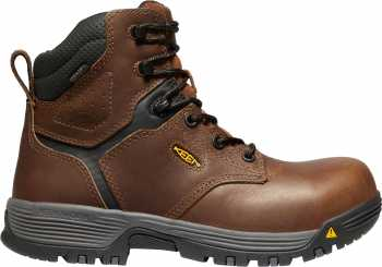 KEEN Utility KN1024185 Chicago, Women's, Brown, Comp Toe, EH, WP, 6 Inch Boot