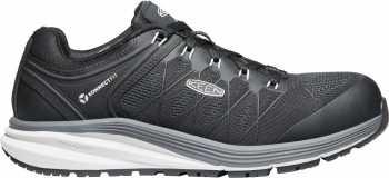 KEEN Utility KN1024604 Vista Energy, Men's, Vapor/Black, Carbon Toe, SD, Low Athletic